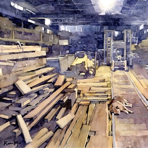 "Karen Mai ""Nap at the Sawmill"" 3rd Place – 80th International Open Exhibition 2020"